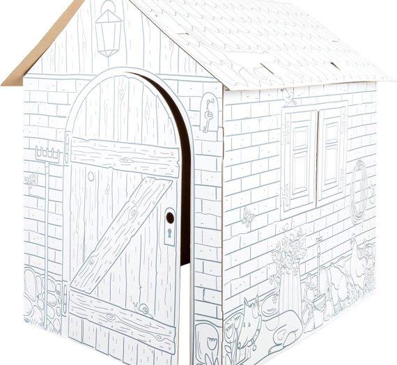 Les meilleures cabanes en carton à colorier
